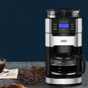 GEVI 10-Cup Drip Coffee Grinding Brewing Machine